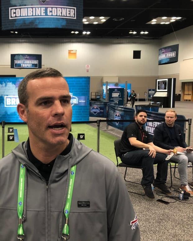 Brandon Beane was disappointed the NFL cut prospect interviews at the Combine down from 60 to 45 minutes.