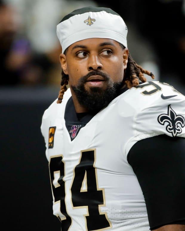 Cameron Jordan of the New Orleans Saints