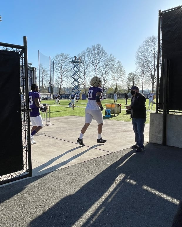 The entrance to the UW practice field.