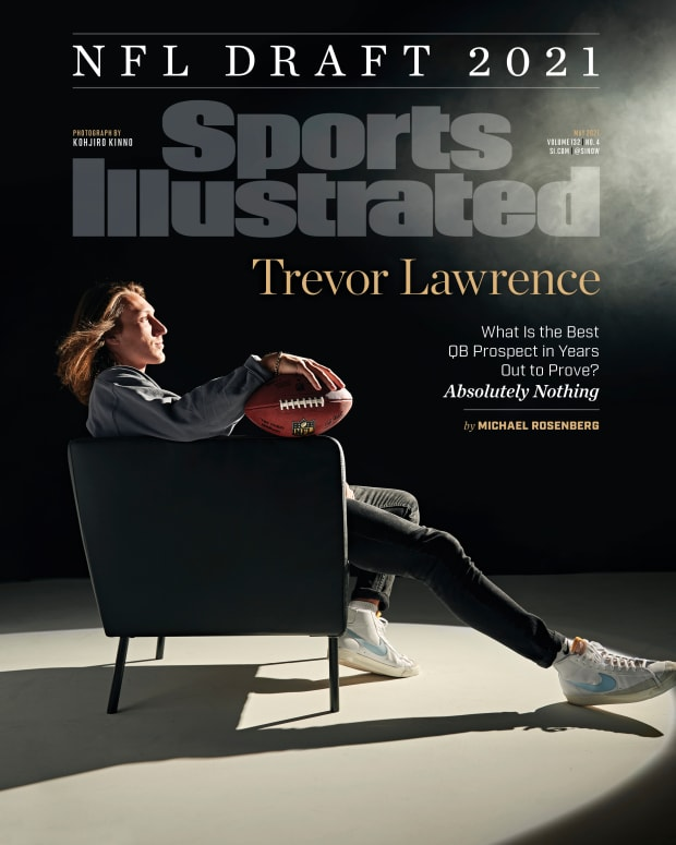 Trevor Lawrence on the cover of Sports Illustrated