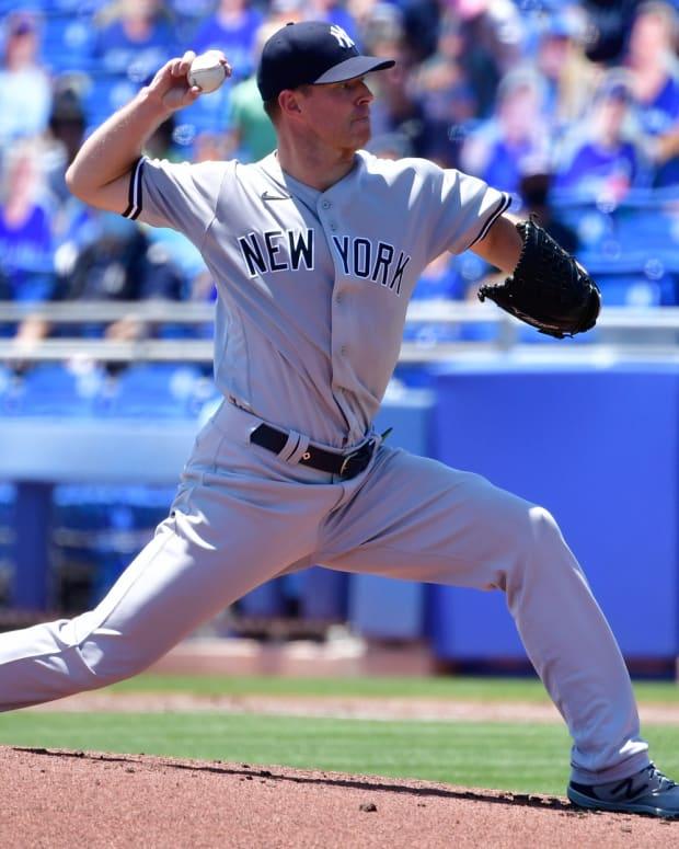 Yankees SP Corey Kluber pitching vs. Blue Jays
