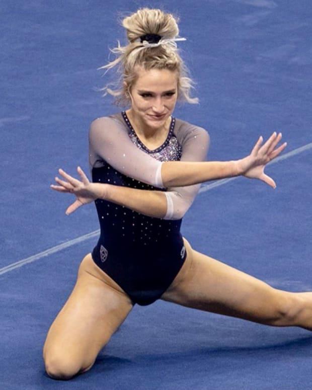 Cal gymnast Nevaeh DeSouza