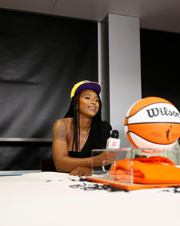 Jasmine Walker on draft night