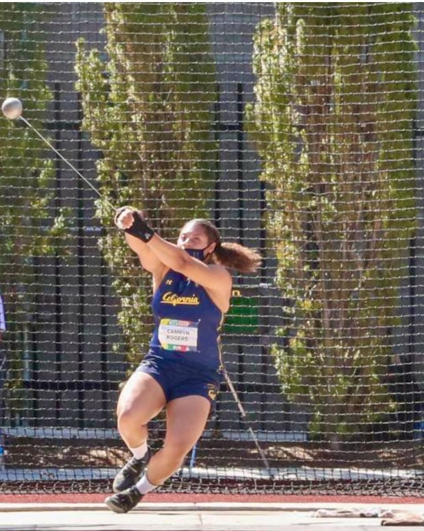Camryn Rogers unleashes the hammer at Eugene
