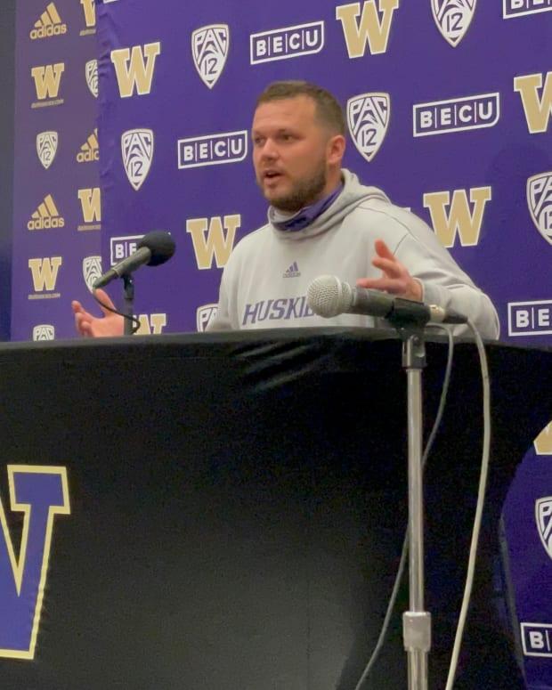 Rip Rowan discusses his path to UW defensive-line coach.