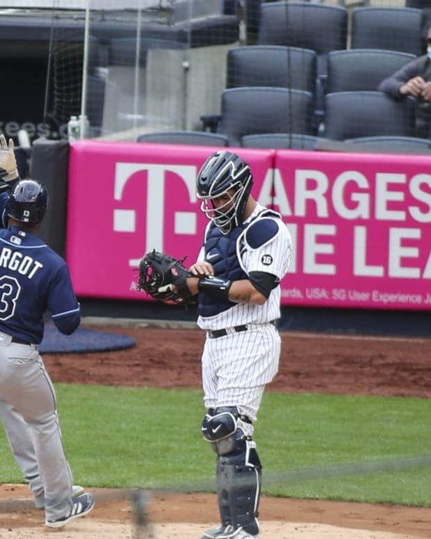 Tampa Bay Rays score on Manuel Margot HR at Yankee Stadium