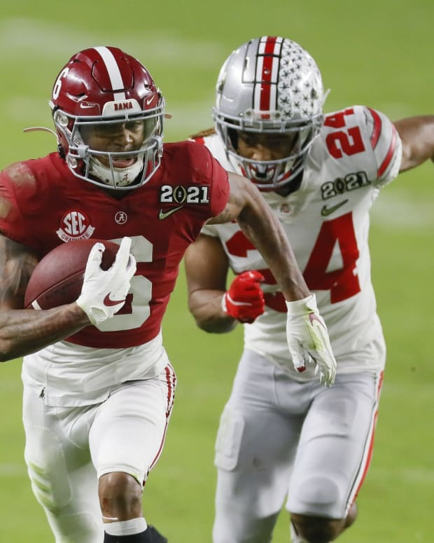 DeVonta Smith was picked No. 10 overall by the Eagles in the 2021 NFL Draft