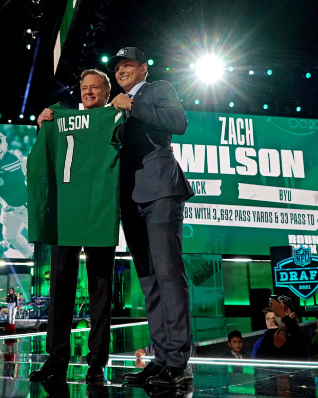 New York Jets QB Zach Wilson NFL Draft