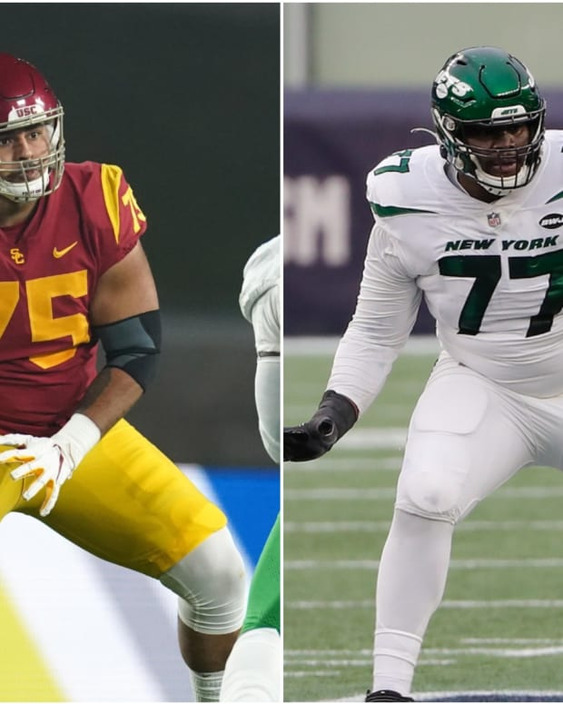 USC guard Alijah Vera-Tucker, Jets tackle Mekhi Becton