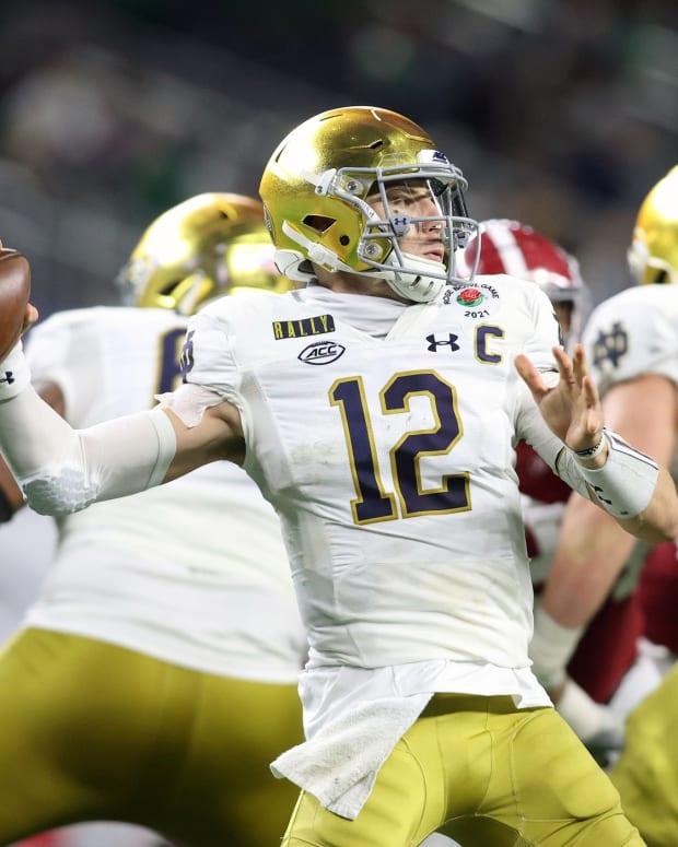 Ian Book, QB, Notre Dame; Saints Quarterback