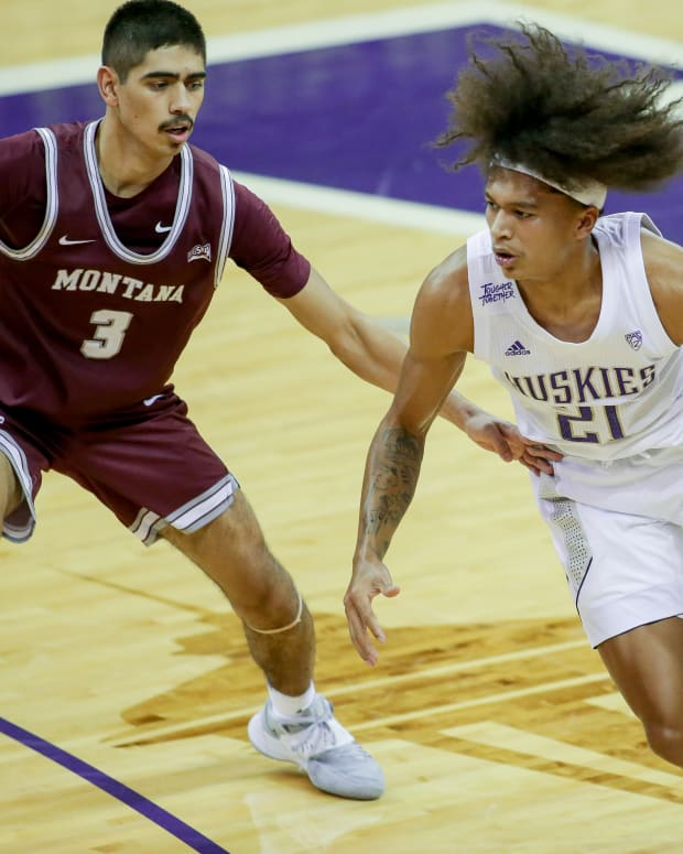RaeQuan Battle, shown against Montana, will play next for Montana State.
