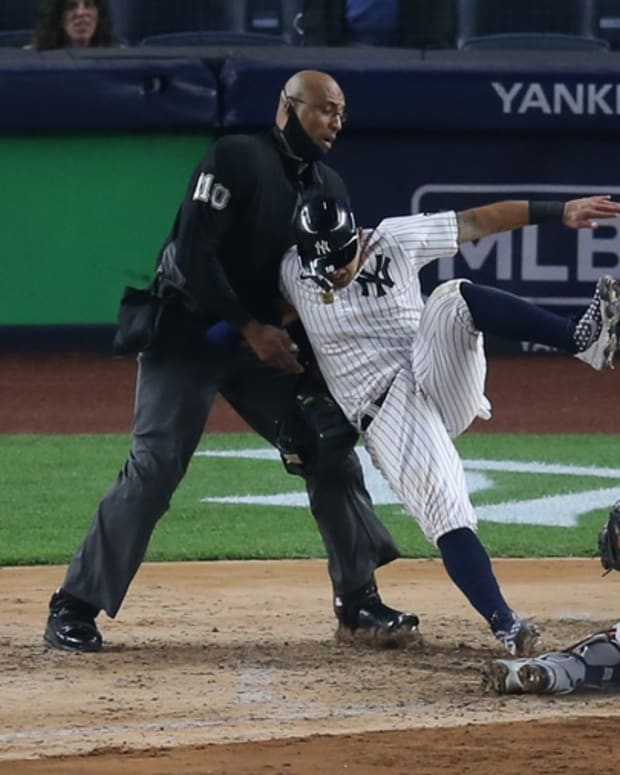 Yankees Rougned Odor collision Astros Martin Maldonado