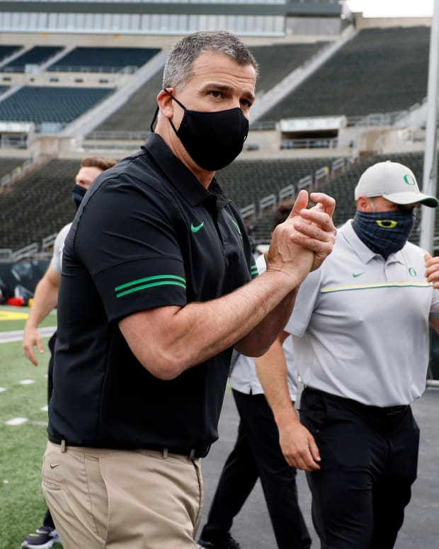 Mario Cristobal 2021 Spring Game