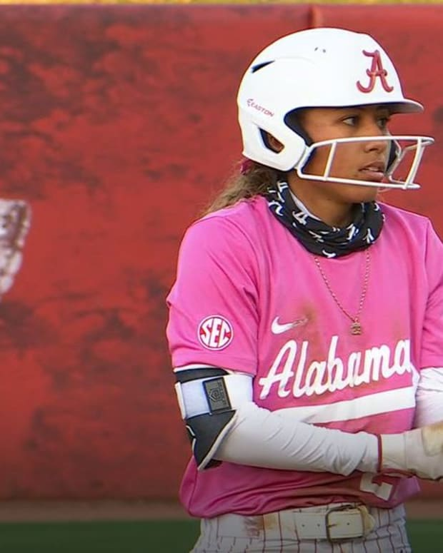 Alabama softball player Savannah Woodard on Friday, May 7, 2021 vs. Ole Miss.