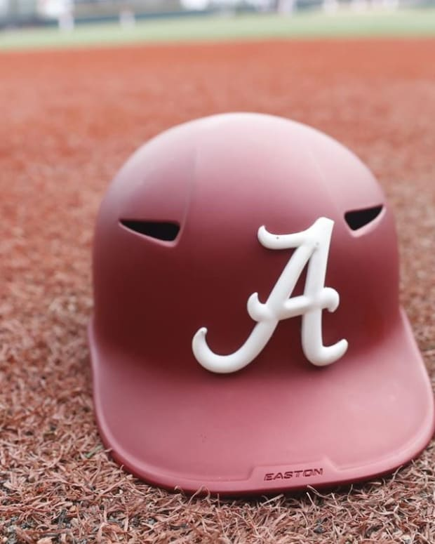 Alabama baseball helmet