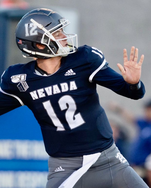 Nevada quarterback Carson Strong