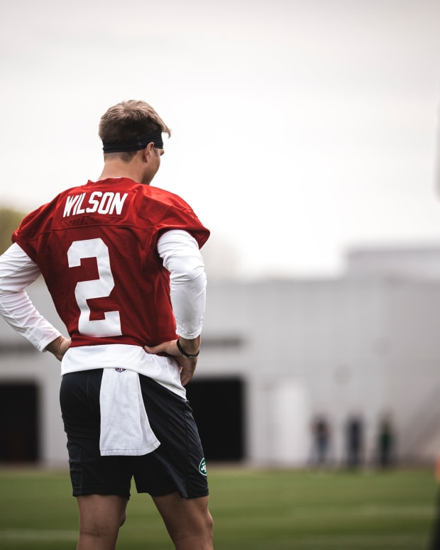 New York Jets QB Zach Wilson rookie minicamp
