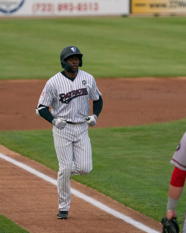 Prospect Estevan Florial home run Patriots