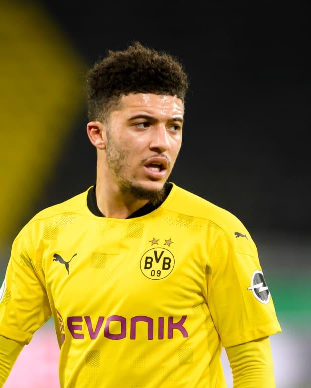 Jadon Sancho features for Borussia Dortmund