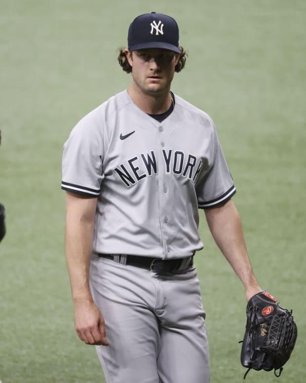 Yankees SP Gerrit Cole against Rays