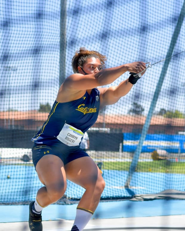 Cal's Camryn Rogers at the Pac-12 championships