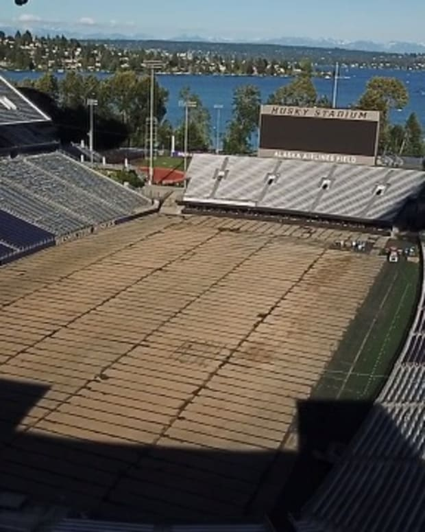 Husky Stadium is getting a new surface makeover.