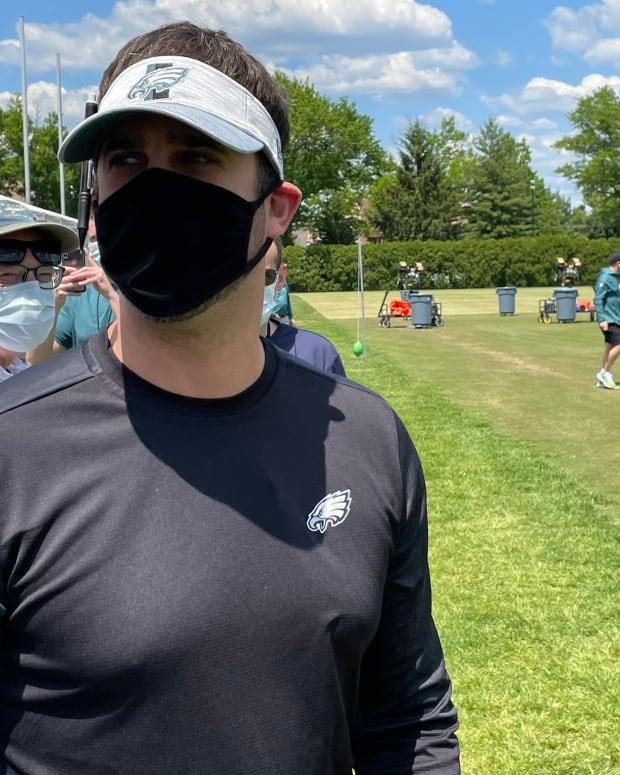 Nick Sirianni at Eagles rookie camp