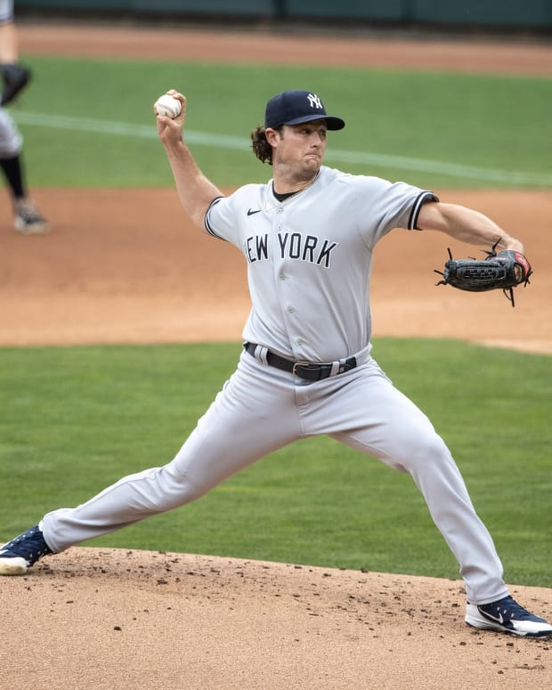 Yankees SP Gerrit Cole pitching