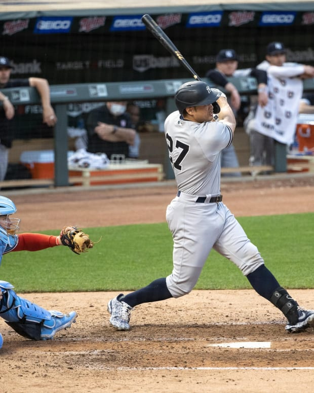 Yankees DH Giancarlo Stanton hits home run