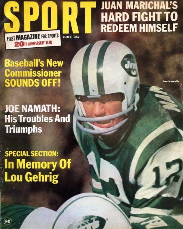 Sport Magazine cover, June 1966: Joe Namath