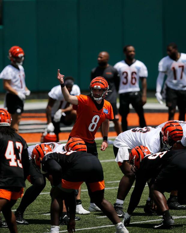 Brandon Allen, Bengals Practice