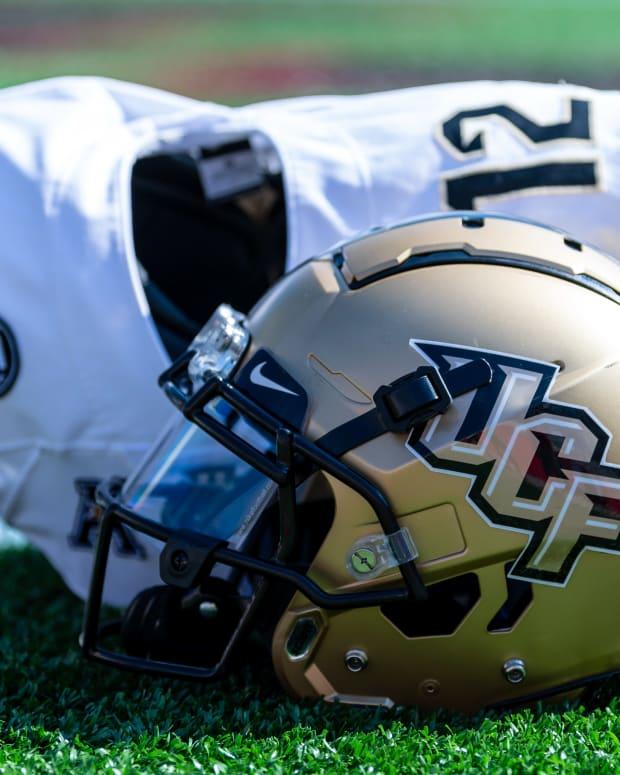 UCF Helmet and Jersey