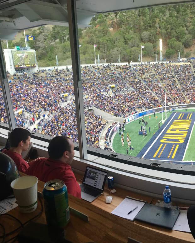 Memorial Stadium with fans