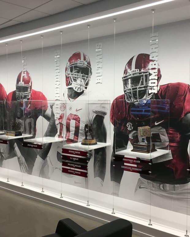 Some of Alabama's national individual awards on display