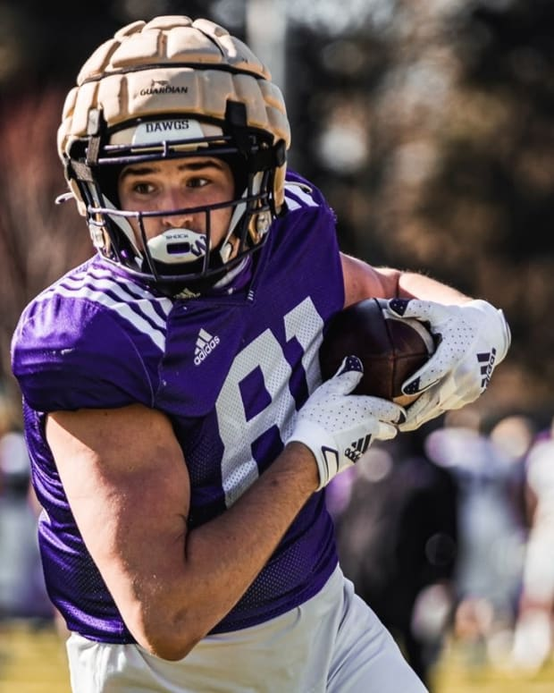 Mark Redman had a positive spring at tight end.