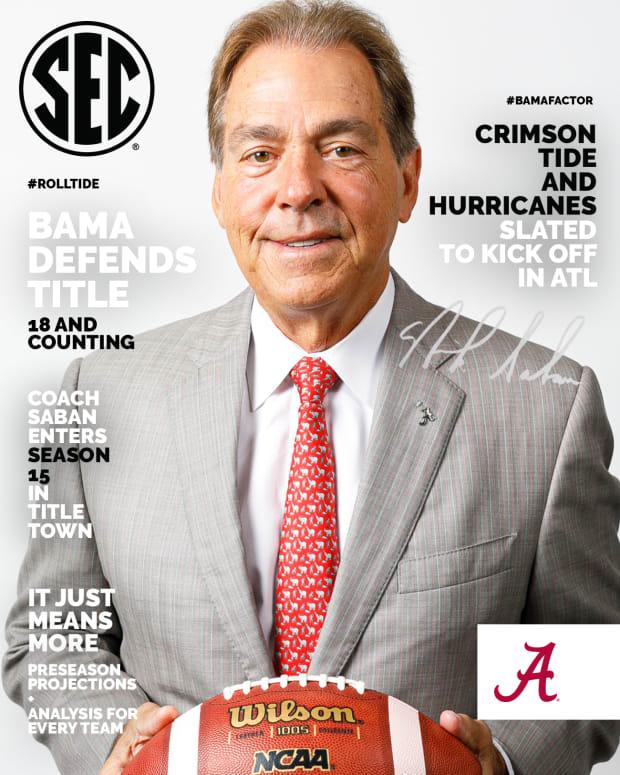 Nick Saban magazine cover, SEC Media Days