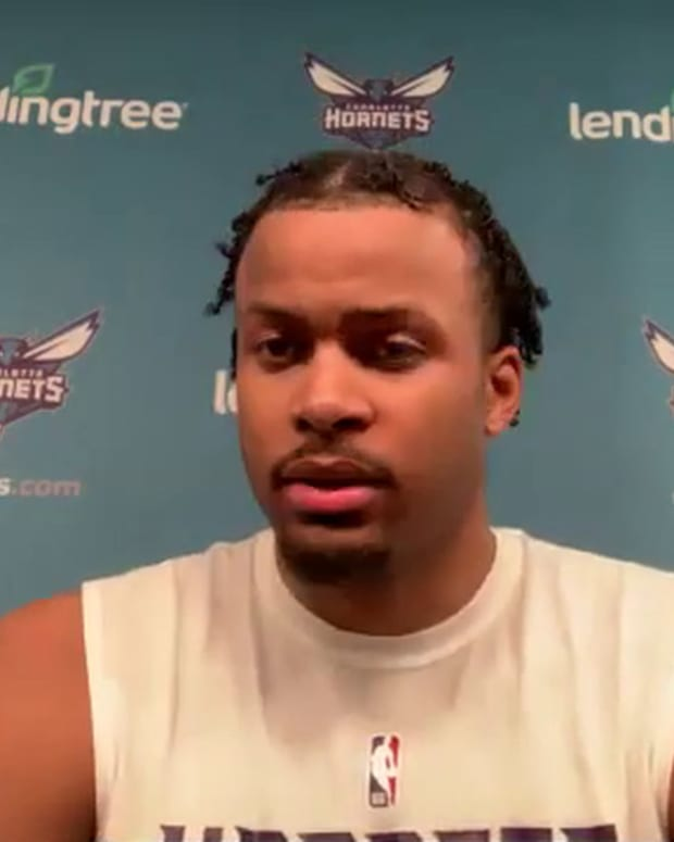 Moses Moody pre-draft workout with Charlotte Hornets