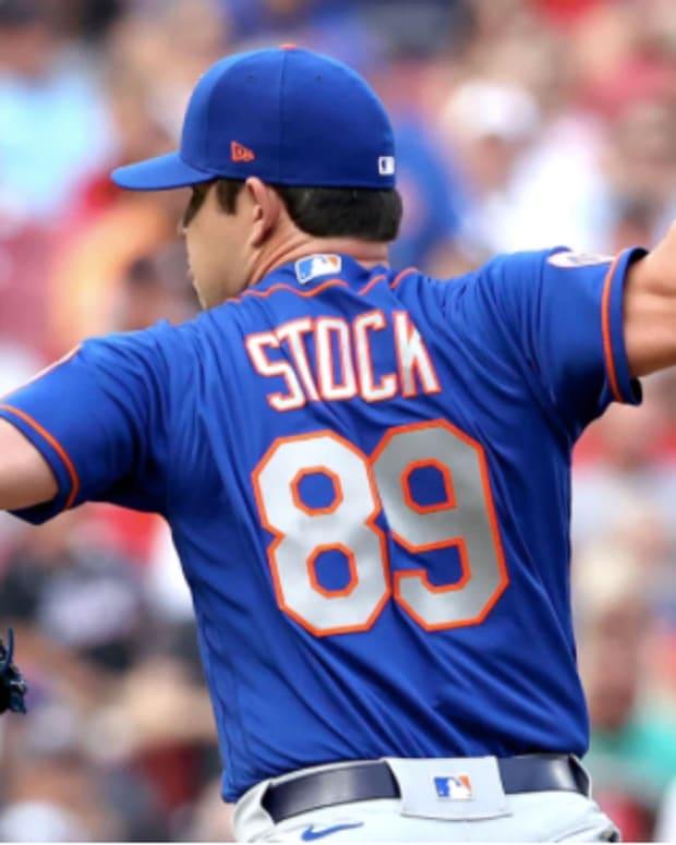 Mets pitcher Robert Stock will undergo season-ending surgery on his torn hamstring.