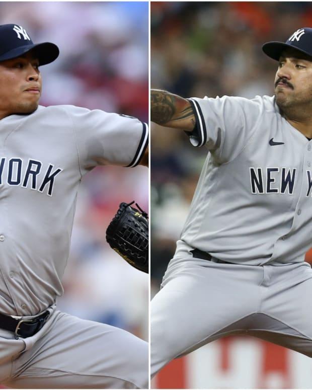 Yankees pitchers Jonathan Loaisiga, Nestor Cortes
