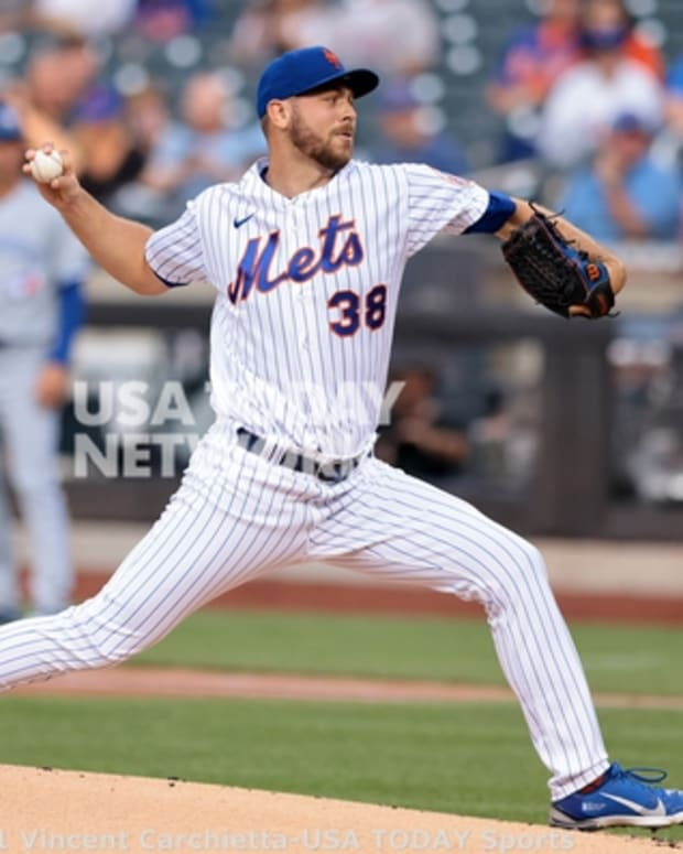 Mets rookie pitcher Tylor Megill picked up his first career MLB win on Friday against the Blue Jays.