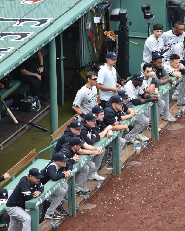 New York Yankees dugout at Fenway Park