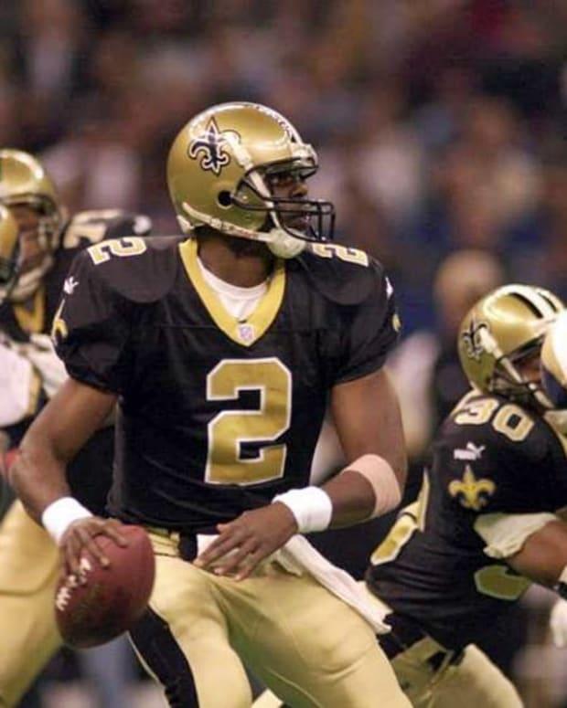Former New Orleans Saints quarterback Aaron Brooks