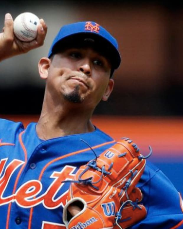 Mets pitcher Carlos Carrasco is lined up to make his Mets debut this weekend against the Reds.