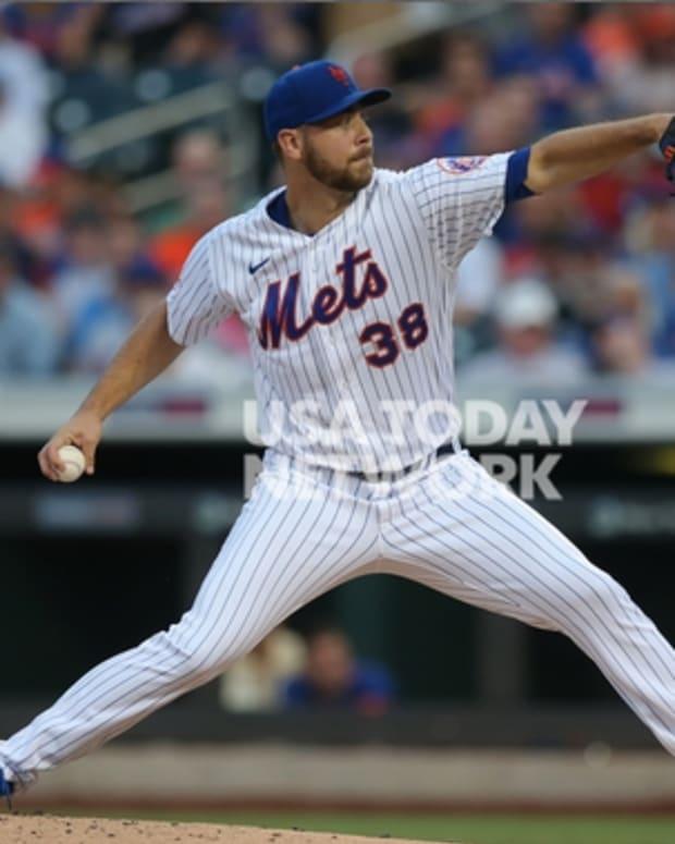 Mets rookie pitcher Tylor Megill