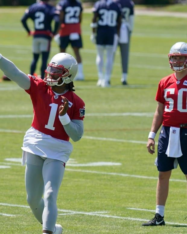 Cam Newton, Mac Jones New England Patriots