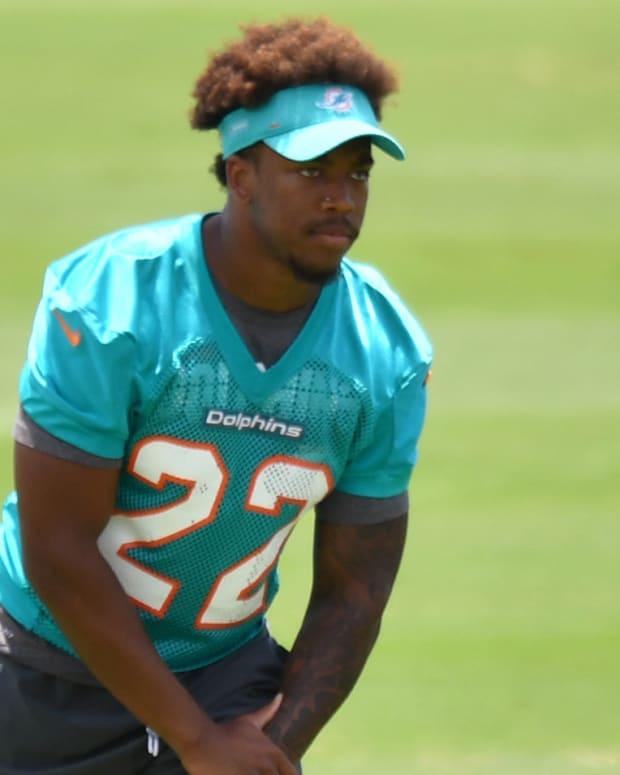 Jevon Holland Dolphins Practice