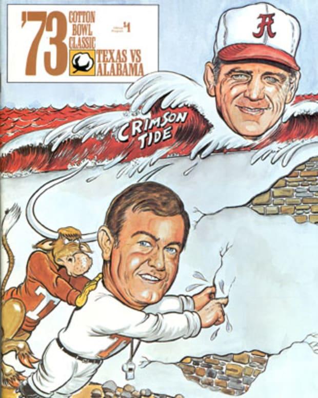 1973 Cotton Bowl: Alabama vs. Texas game program