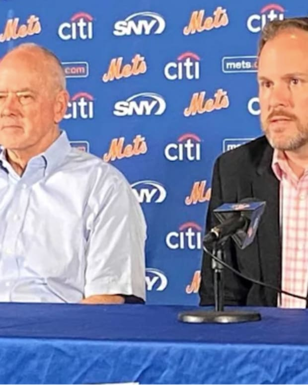 Mets team president Sandy Alderson and general manager Zack Scott
