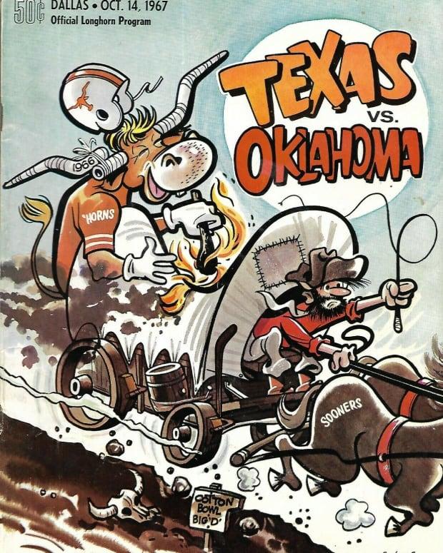 1967 Texas vs. Oklahoma game program