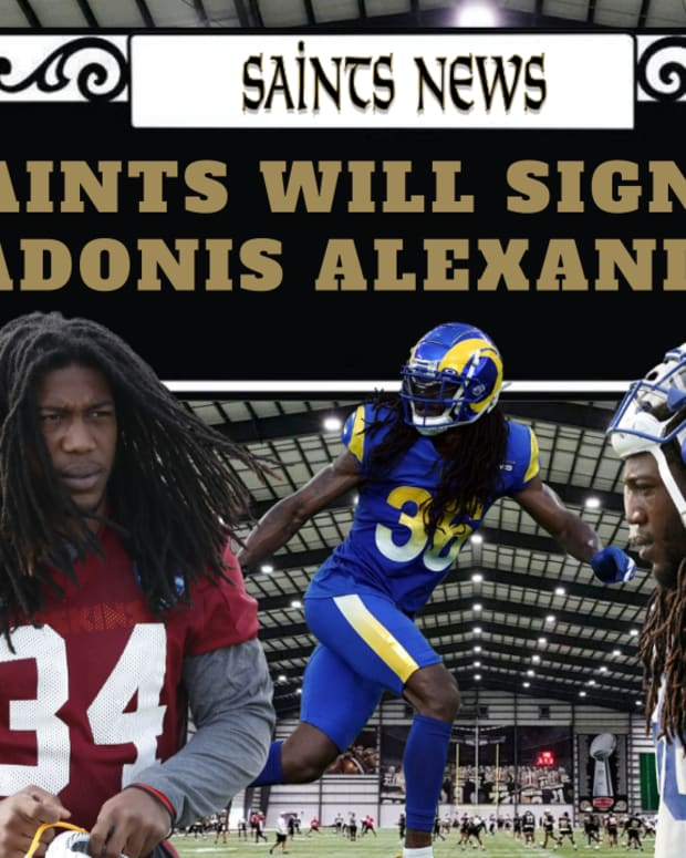 Adonis Alexander Signs with Saints